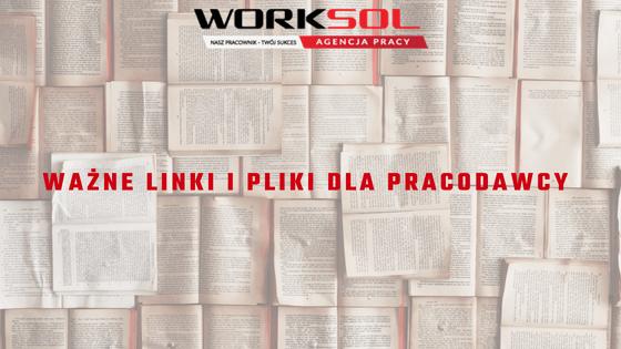 Ważne linki i pliki dla pracodawcy