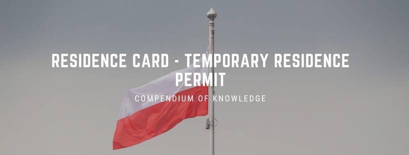 Residence card - temporary residence permit