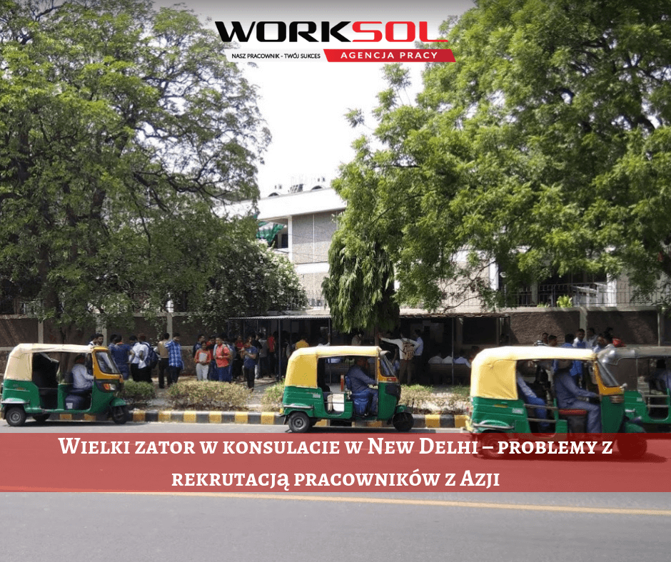 Queues at the consulate in New Delhi