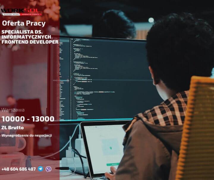 praca w it warszawa Специалист IT Frontend Developer работа в Варшаве