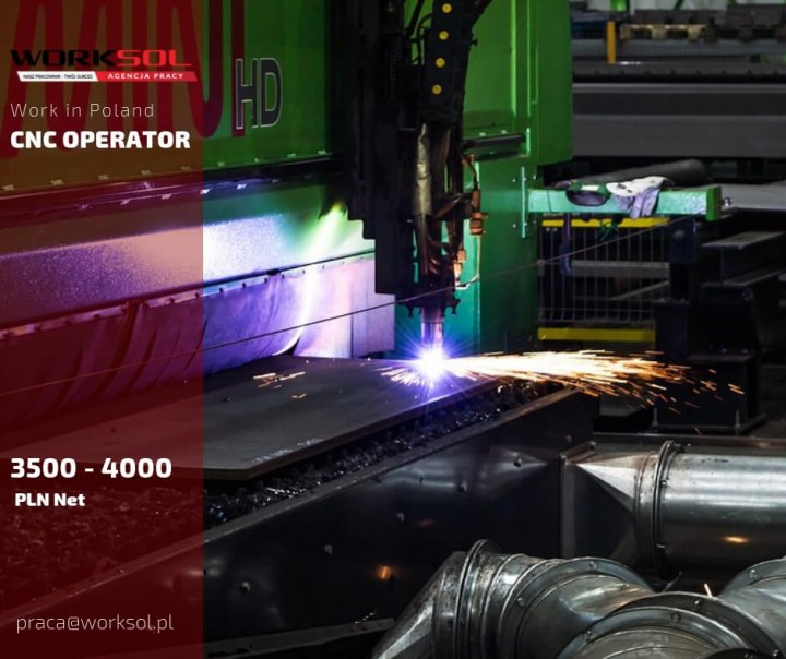 CNC operator to work in Poland