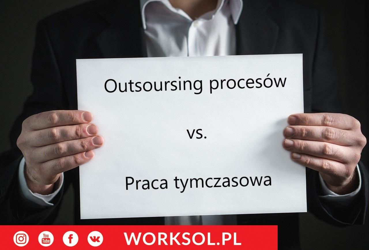 Praca tymczasowa a outsourcing
