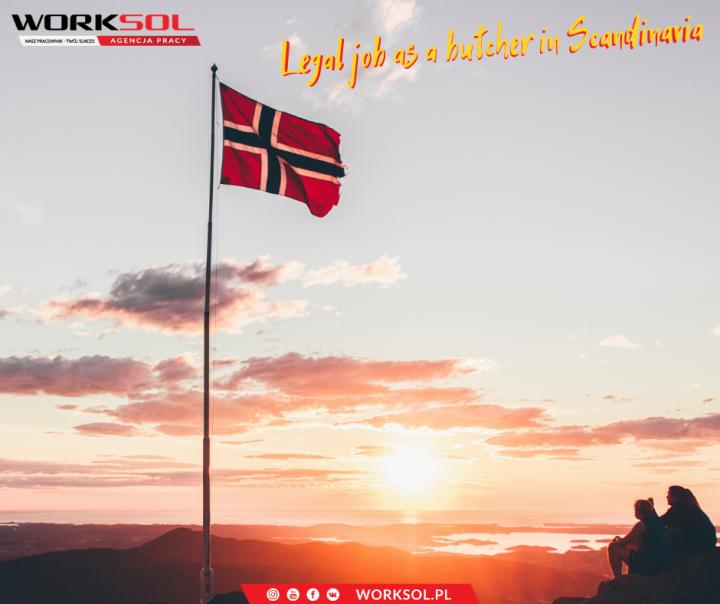 Legal job as a butcher in Scandinavia - the outdoor set